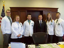 Delegate Morefield with students from the?Appalachian College of Pharmacy?during Legislative Day in Richmond.