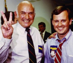 The Bald Eagle of the Cumberlands Celebrates William Jr.?s State Senate Victory in 1987.